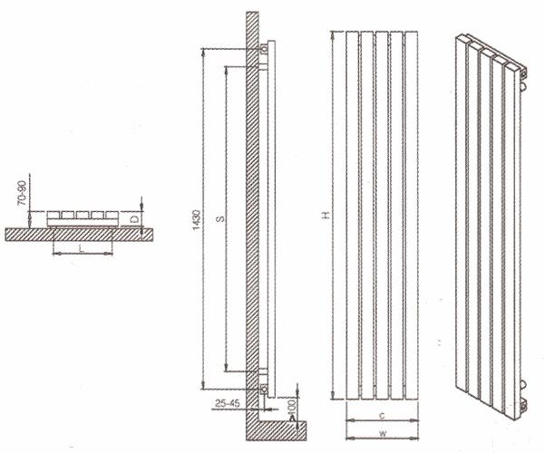 Radiateur design inox Aden de Carisa