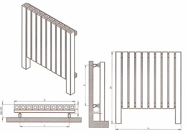 Radiateur inox design et décoratif Forte de Carisa