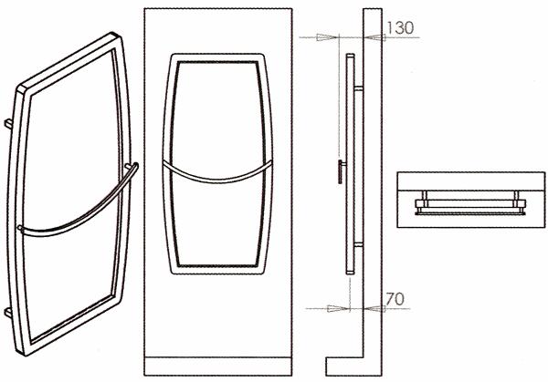 Radiateur décoratif design inox avec mirroir Grace de Carisa