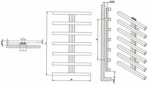 Radiateur décoratif design inox Herring de Carisa