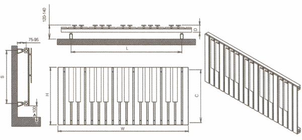 Radiateur design inox Piano de Carisa