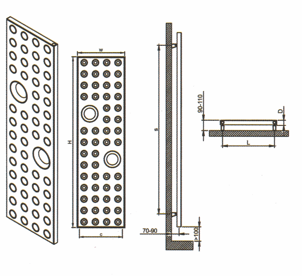 Radiateur design inox Riddle de Carisa