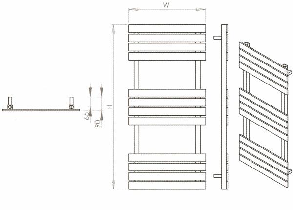 Radiateur design inox Sahara de Carisa