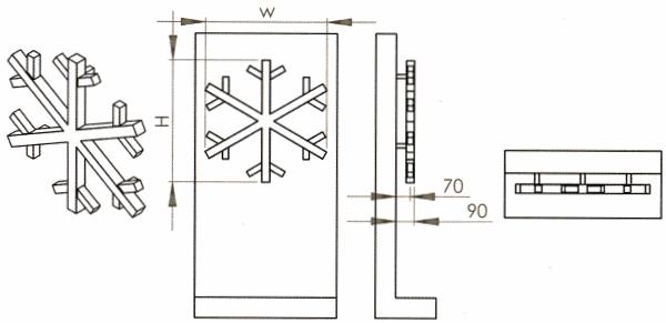 Radiateur décoratif sèche-serviettes en inox Snowflake de Carisa