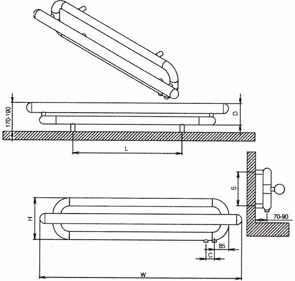 Radiateur design inox Swing de Carisa