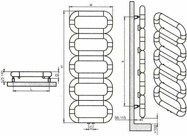 Radiateur design inox Talent de Carisa