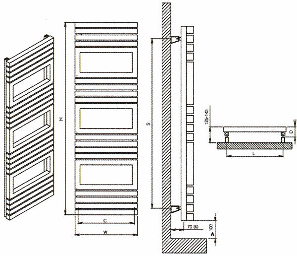 Radiateur design inox Toledo de Carisa