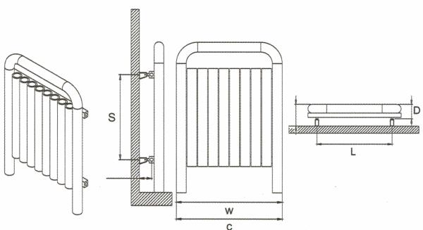 Radiateur design inox Una de Carisa