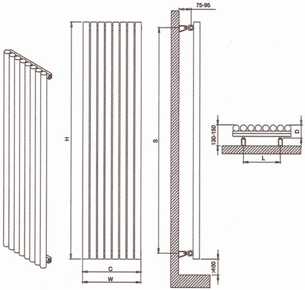 Radiateur design inox Versailles de Carisa