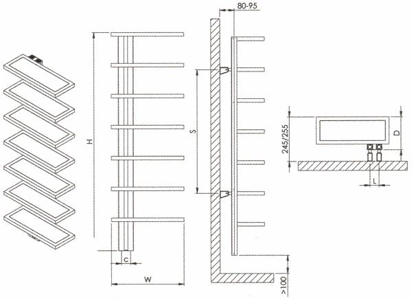 Radiateur design inox Woodstock de Carisa