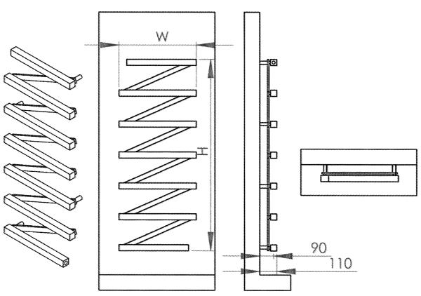 Radiateur design inox Zigzag de Carisa